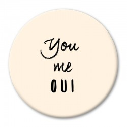 MAGNET L YOU ME OUI