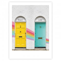 POSTER 30X40CM PEACE AND LOVE